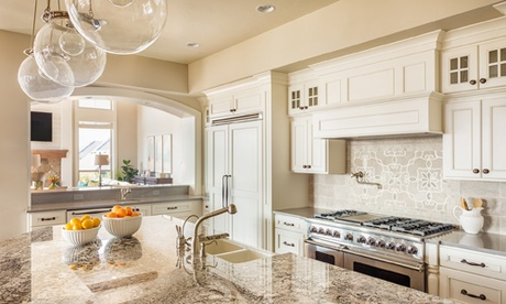 Beautiful Kitchen Countertop, Cabinets, and Island